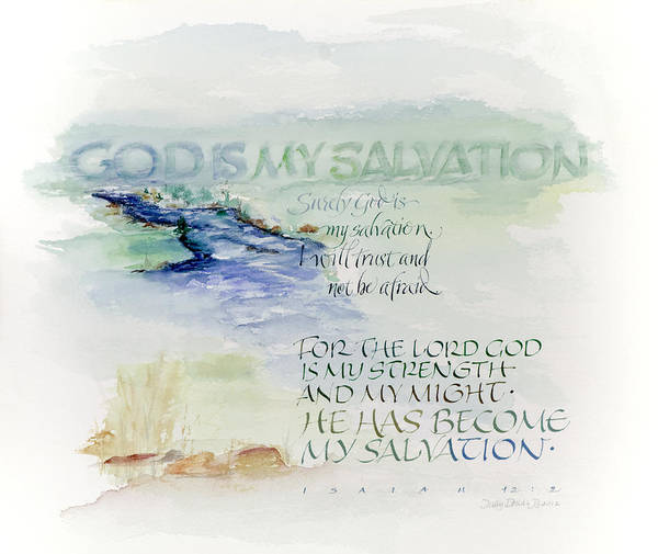 Wall Art - Painting - God Is My Salvation by Judy Dodds
