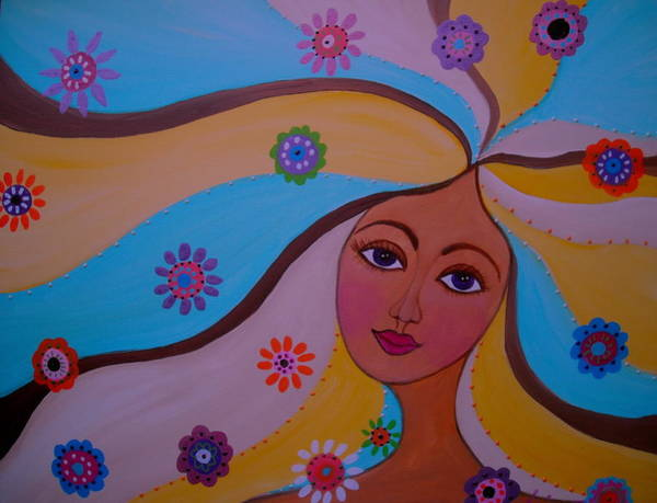 Painting - Goddess Mermaid by Pristine Cartera Turkus