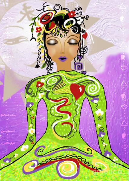 Goddess Of Yoga Art Print by Gia Simone