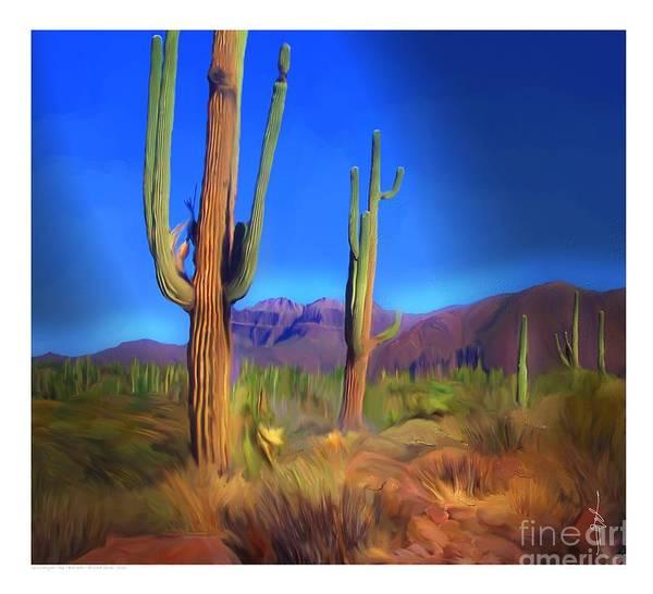 Southwest Digital Art - Gold Canyon Az by Bob Salo
