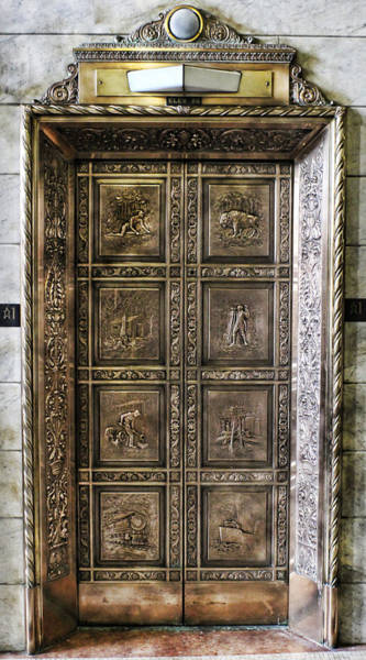 Elevator Photograph - Golden Age Design by Peter Chilelli