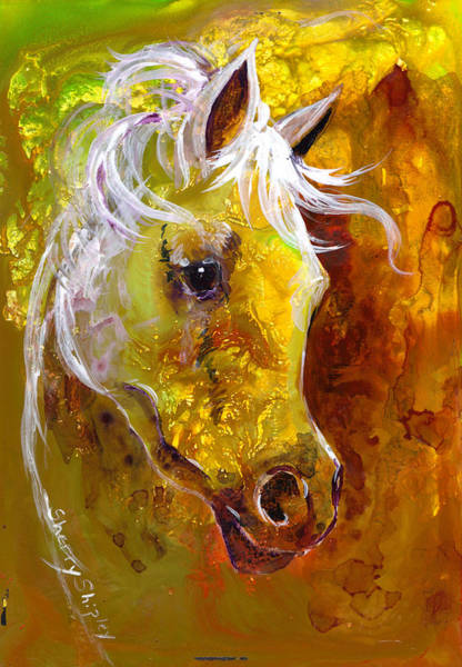 Painting - Golden Arab by Sherry Shipley