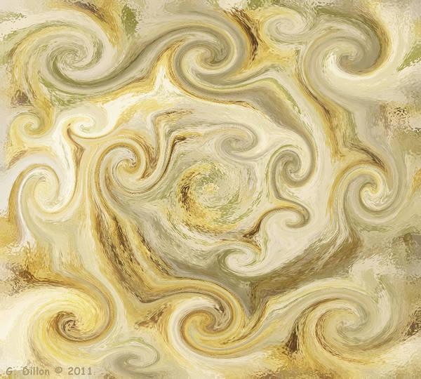 Golden Blend Art Print