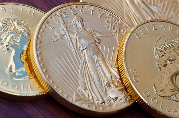 Legal Tender Photograph - Golden Coins II by Joe Carini - Printscapes
