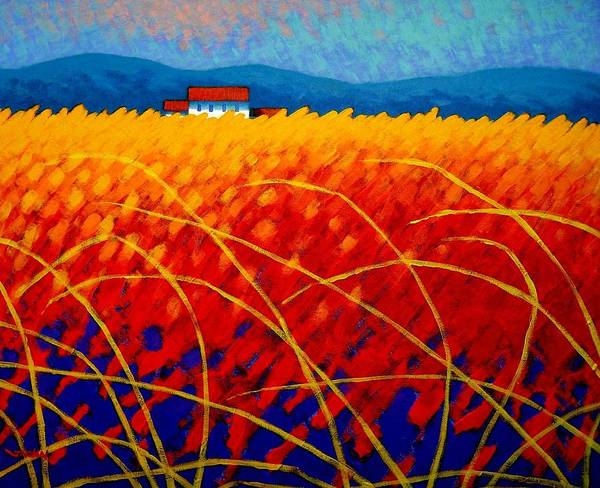 Poetry Painting - Golden Cornfield by John  Nolan
