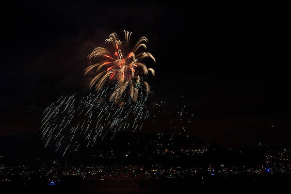Photograph - Golden Gate 75th Fireworks 6 by Peter Dyke