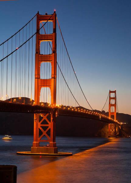 Golden Gate Bridge At Dusk Art Print