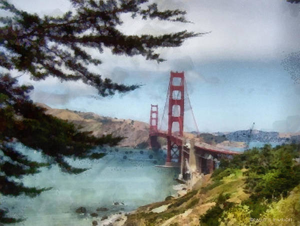 Photograph - Golden Gate Bridge by Paulette B Wright