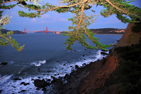 Legion Of Honor Photograph - Golden Gate Bridge Seen From Legion by Raymond Gehman
