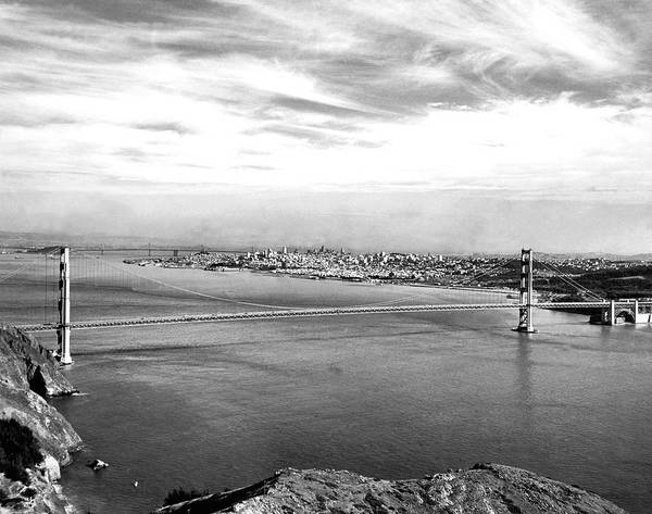 Wonders Of The World Photograph - Golden Gate Bridge by Underwood Archives