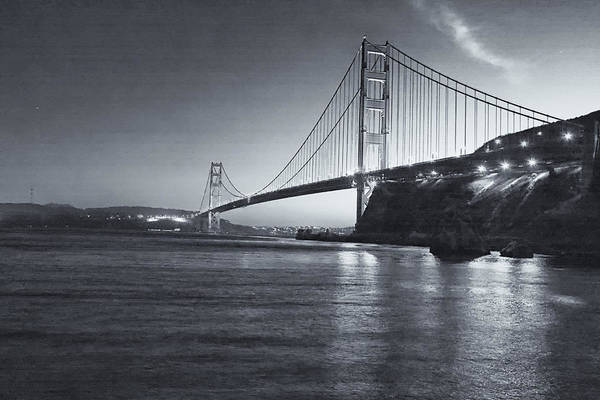 Photograph - Golden Gate In Black And White by Tom Singleton