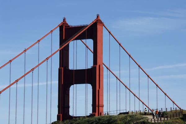 Photograph - Golden Gate North Tower by Wes and Dotty Weber
