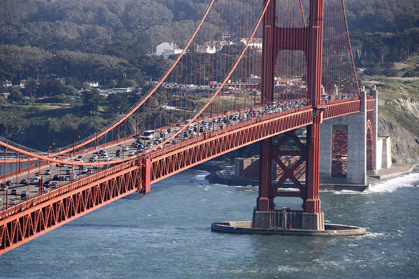 Photograph - Golden Gate Traffic by Wes and Dotty Weber