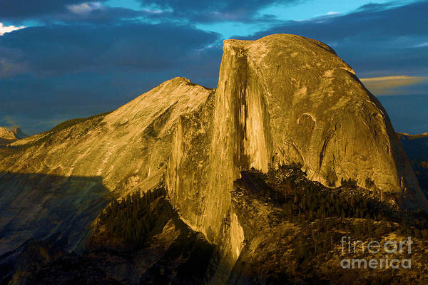 Photograph - Golden Half Dome by Adam Jewell