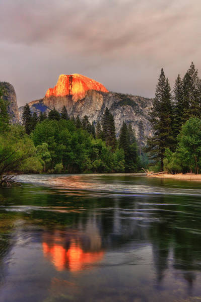 Photograph - Golden Light On Halfdome by Beth Sargent