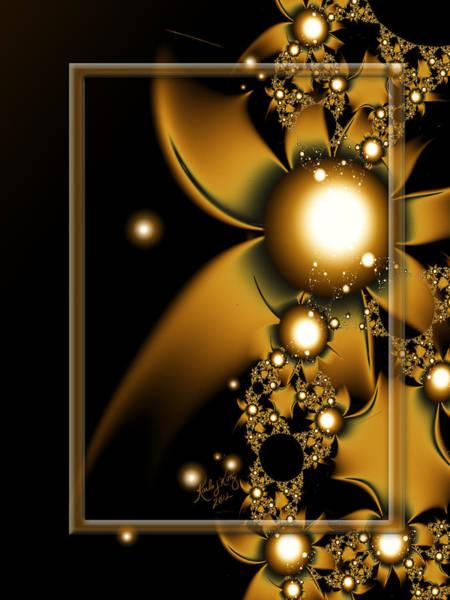 Digital Art - Golden Luxury by Karla White