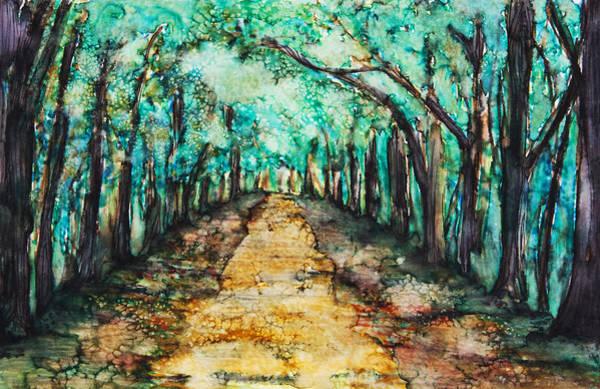 Tara Painting - Golden Path by Tara Thelen