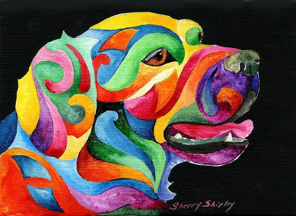 Painting - Golden Retreiver by Sherry Shipley