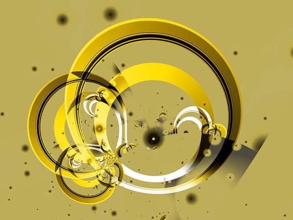 Digital Art - Golden Rings by Frederic Durville