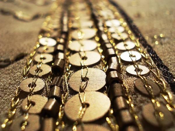 Beading Photograph - Golden Sequins Highway by Sumit Mehndiratta