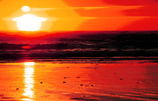 Lagoon Digital Art - Golden Sunset by Phill Petrovic