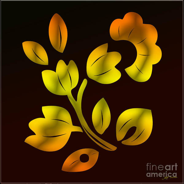Wall Art - Digital Art - Golden Tulip Tree by Heinz G Mielke