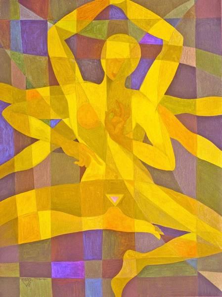 Wall Art - Painting - Golden Yellow Dakini by Jennifer Baird