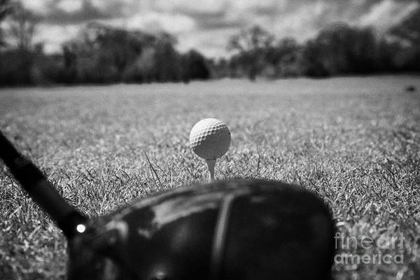 Addressing Photograph - Golf Ball On The Tee With Driver by Joe Fox