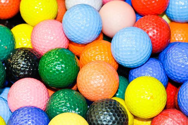 Abundant Wall Art - Photograph - Golf Balls by Tom Gowanlock