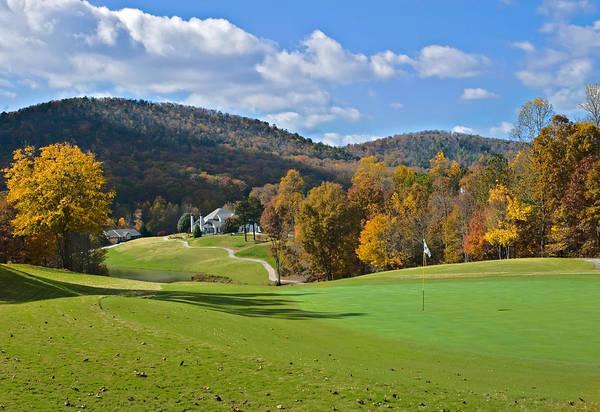 Golf Course In Autumn Art Print