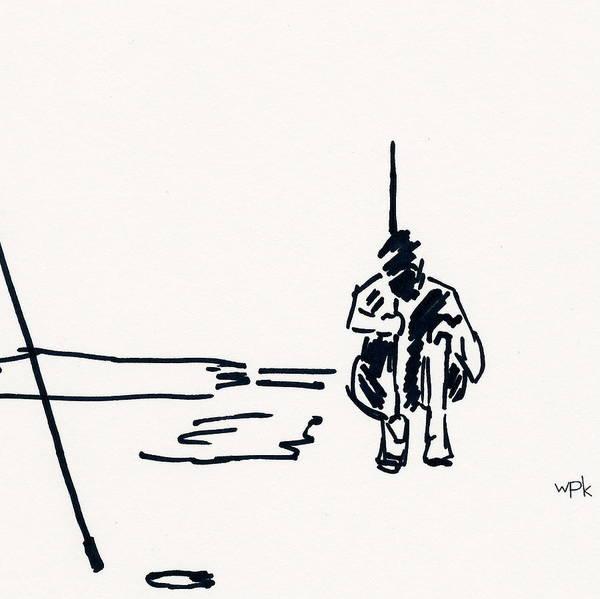 Beach Grass Drawing - Golf II by Winifred Kumpf