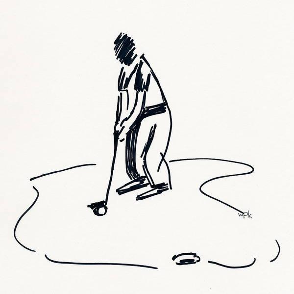 Beach Grass Drawing - Golf Iv by Winifred Kumpf