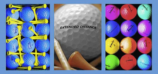 Fun Wall Art - Photograph - Golf Themed Triptych by Steve Ohlsen