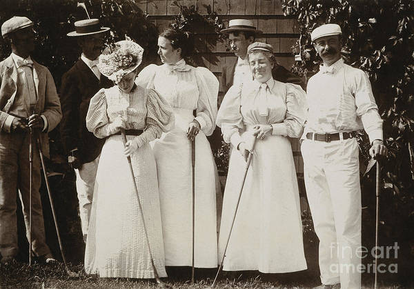 Photograph - Golfing Party, C1895 by Granger
