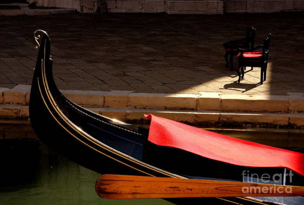 Wall Art - Photograph - Gondola With Chairs by Michael Henderson