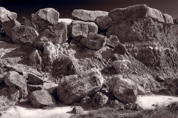 Painted Desert Photograph - Gooseberry Badlands Wyoming Bw by Steve Gadomski