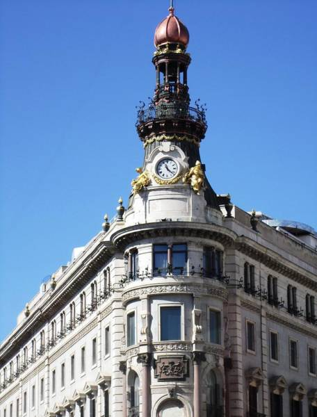 Photograph - Gorgeous Historic Madrid Architecture Building In Spain by John Shiron
