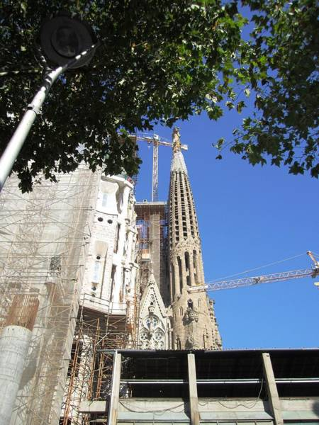 Photograph - Gorgeous Sagrada Familia Cathedral IIi Endures Cranes For Renovation And Upgrading Barcelona Spain by John Shiron