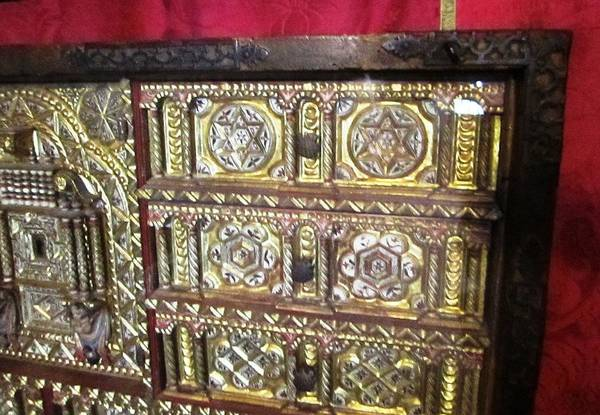Photograph - Gorgeous Star Of David Antique Golden Chest Closet Jewish Origin Close Up In Segovia Castle Spain by John Shiron