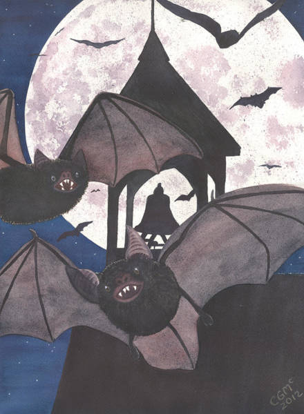Painting - Got Bats by Catherine G McElroy