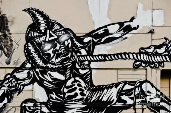 Strangling Painting - Got The Alien Graffiti by Yurix Sardinelly