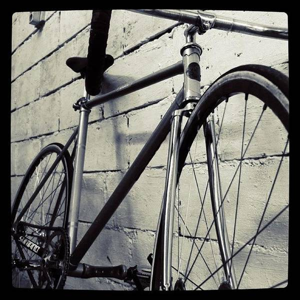Gotham Wall Art - Photograph - #gotham #bike #iphonesia #iphoneography by The Art.box
