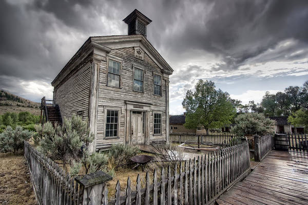 Pioneer School Photograph - Gothic Masonic Temple 2 - Bannack Ghost Town by Daniel Hagerman