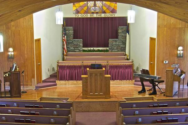 Livonia Photograph - Grace Baptist Church by Michael Peychich