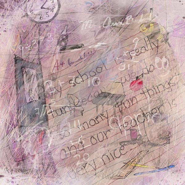Growing Up Digital Art - Grade School Memories by Rachel Christine Nowicki