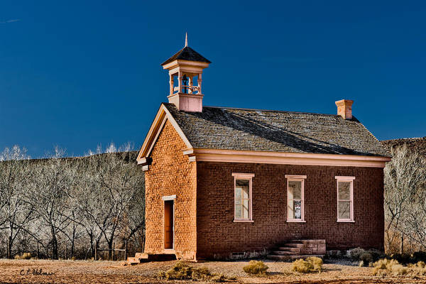 Photograph - Grafton Schoolhouse by Christopher Holmes