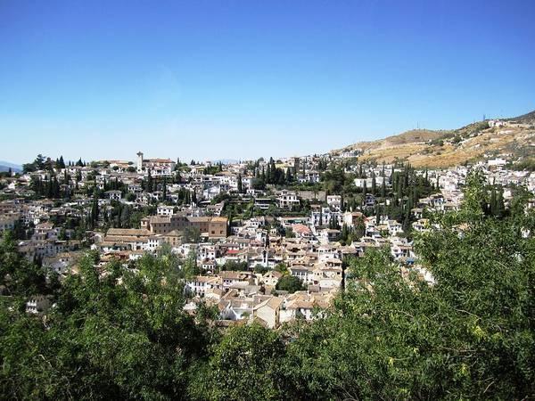 Photograph - Granada Gorgeous Hillside View Of Homes Spain by John Shiron