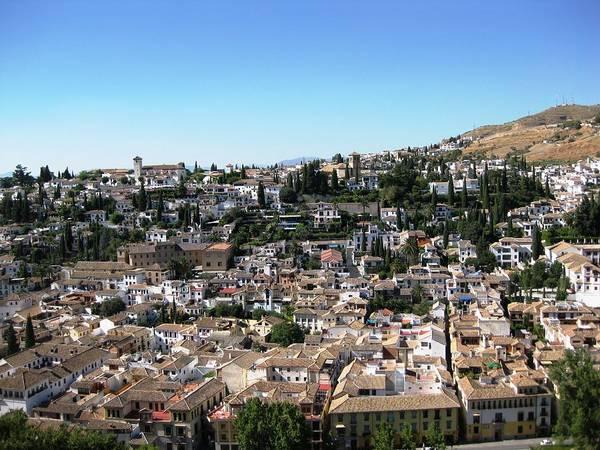 Photograph - Granada Spain Hillside Homes With A View by John Shiron