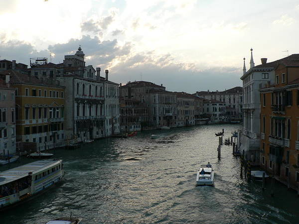 Photograph - Grand Canal At Dusk by Laurel Best