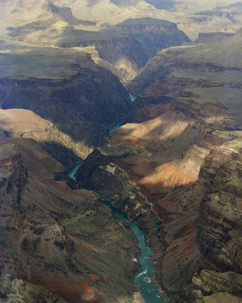 Photograph - Grand Canyon And River In The Shade by M K Miller